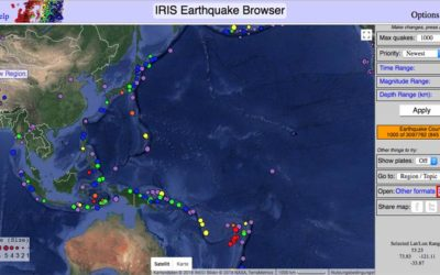 IRIS Earthquake Browser