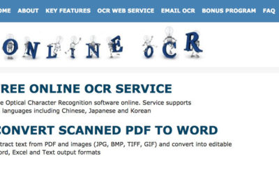 Kostenloser Online OCR-Dienst